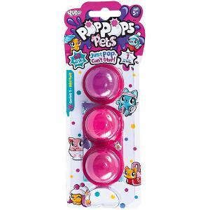 Игровой набор  PopPops Pets, 3 шт Yulu. Цвет: розовый