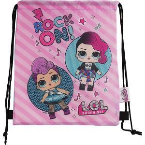 Мешок для обуви AKADEMIA GROUP Куклы L.O.L, малый MGA. Цвет: розовый