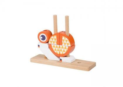 Деревянная игрушка  Вертикальный пазл Лисенок Classic World