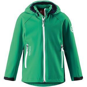 Куртка  для мальчика Reima. Цвет: зеленый