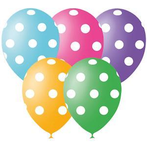 Воздушные шары Горошек 12/30 см 25 шт, серия Декоратор Latex Occidental