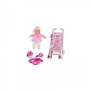 Игровой набор Dimian Bambolina Boutique. Прогулочная коляска с куклой, 36 см