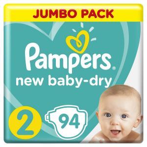 Подгузники  New Baby Dry (4-8 кг) шт. Pampers