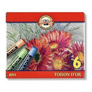 Набор сухой пастели KOH-I-NOOR Toison Dor, 6 цветов. Цвет: красный