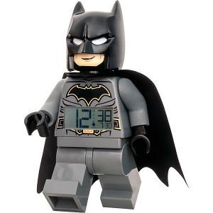 Будильник  DC Comics Super Heroes Минифигура Бэтмен, свет/звук LEGO. Цвет: grau/grün
