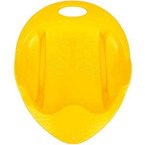 Санки-ледянка Снежный гонщик, желтые Пластик. Цвет: желтый