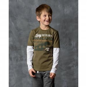 Футболка с длинным рукавом для мальчика Modniy Juk. Цвет: зеленый