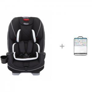 Автокресло  Slimfit LX с защитной накидкой на спинку переднего сидения автомобиля ProtectionBaby Graco