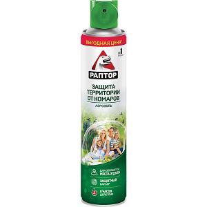 Аэрозоль  для защиты территории от комаров, 400 мл Раптор