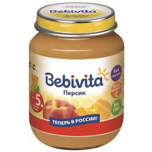 Пюре  персик с 5 месяцев, 100 г Bebivita