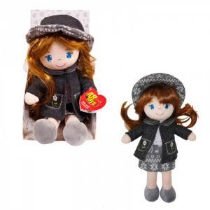 Кукла в серой шляпке и фетровом костюме 36 см ABtoys