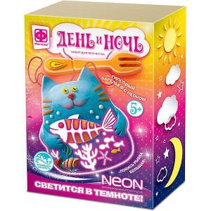 Набор для творчества  Гипсовый барельеф с неоном Ловись рыбка большая Фантазер. Цвет: разноцветный
