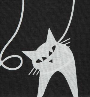 Комплект постельного белья  нав. 70х70 см, цвет: белый/черный Василиса