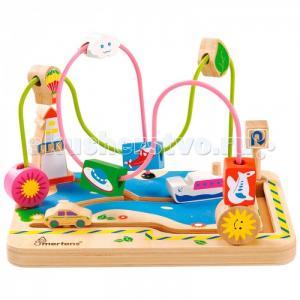 Деревянная игрушка Mertens Лабиринт Транспорт Bino