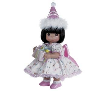Кукла С Днем Рождения брюнетка 30 см Precious