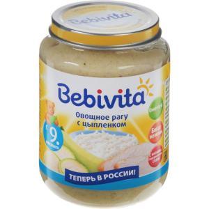 Пюре  овощное рагу с цыпленком, 9 месяцев, 190 г Bebivita