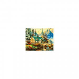 Холст с красками по номерам Усадьба в горах 40х50 см Издательство Рыжий кот