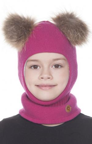 Шапка-шлем  Onerva, цвет: розовый Nels