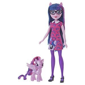 Игровой набор Equestria Girls Кукла и пони, Твайлат Спаркл Hasbro