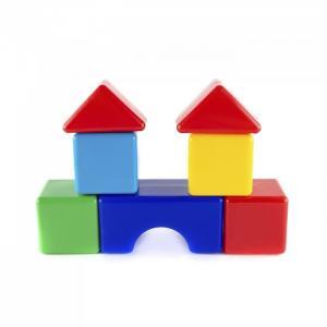 Развивающая игрушка  Набор кубиков Стройка Пластмастер