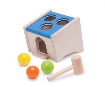 Деревянная игрушка  стучалка с шарами Куб Wonderworld