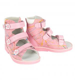 Сандалии ортопедические , цвет: розовый Orthoboom