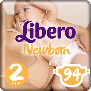Подгузники  Newborn Size 2 (3-6 кг) 94 шт. Libero