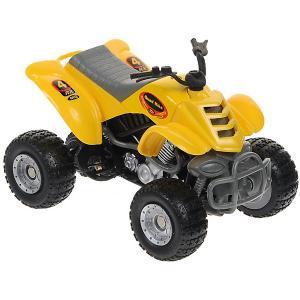Мотоцикл  Quadrobike Monster 1:16, желтый Autotime. Цвет: желтый