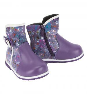 Сапоги , цвет: фиолетовый Колобок