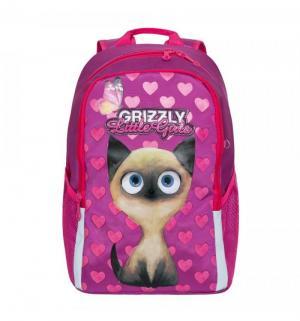 Ранец Grizzly. Цвет: розовый