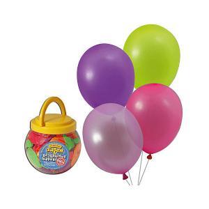 Воздушные шары 10 Веселая затея 200 шт, 25 см (12 цветов неон)