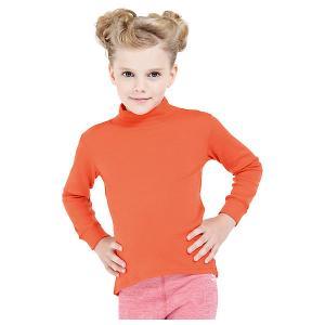 Водолазка  для девочки Norveg. Цвет: оранжевый