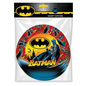Набор бумажных тарелок  6 штук Batman