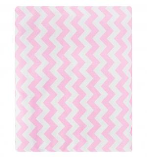 Комплект в коляску Зиг-заг матрас/подушка, цвет: розовый Leader Kids