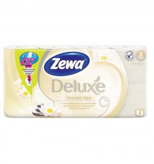 Туалетная бумага 3-х слойная белая  Deluxe, 12 шт Zewa