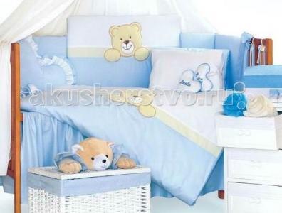 Комплект в кроватку  Teddy Bear (6 предметов) Tuttolina
