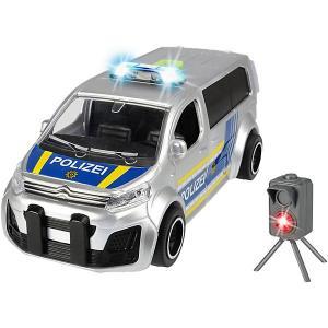 Машинка  Полицейский минивэн Citroen SpaceTourer, фрикционный, 15 см Dickie Toys. Цвет: серый