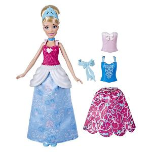 Кукла Disney Princess Золушка с двумя нарядами Hasbro. Цвет: rosa/blau