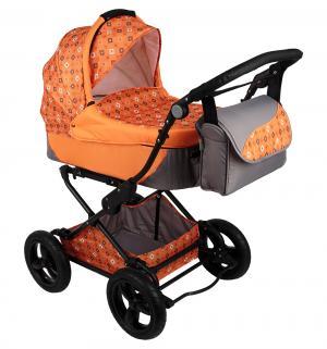 Коляска 2 в 1  Evenly Plus, цвет: оранжевый BabyHit