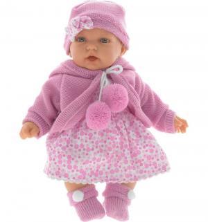 Кукла  Азалия в ярко-розовом со звуком 27 см Juan Antonio