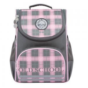 Рюкзак школьный  цвет: серый-розовый 25х33х13 см Grizzly