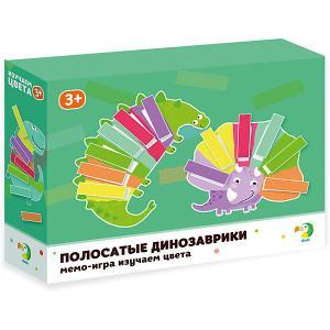 Настольная игра-мемо Dodo Изучаем цвета Полосатые динозаврики Dido