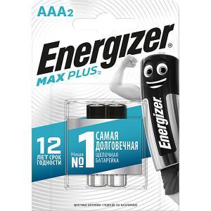 Батарейки алкалиновые  Max Plus, тип ААА, 2 шт Energizer