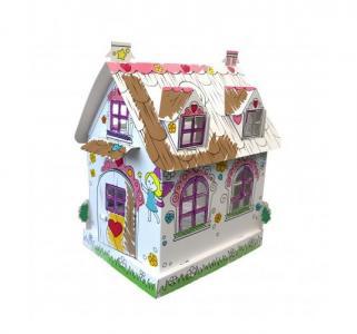 Игрушка-раскраска из картона  Кукольный домик Феи 30х23х36 см CartonHouse