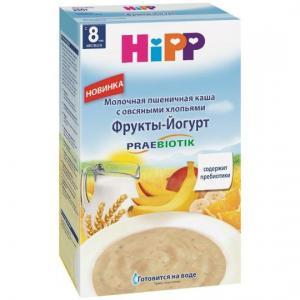 Каша  молочная овсяно-пшеничная фрукты-йогурт с 8 месяцев 50 г Hipp