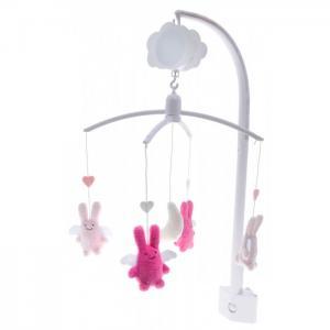 Мобиль  Angel Bunny с мягкими игрушками Trousselier