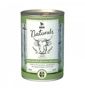 Влажный корм  Naturals для взрослых собак мясной паштет, говядина, 410г Bozita
