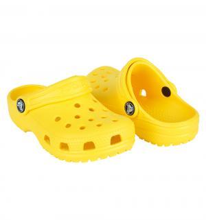 Сабо  Classic Clog Kids, цвет: желтый Crocs