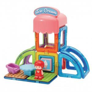 Конструктор  магнитный Town Set - Ice cream (22 элемента) Magformers
