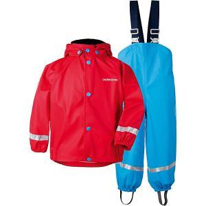 Комплект Didriksons Slaskeman: куртка и полукомбинезон. Цвет: красный